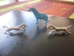 3 Chevaux Cheval Miniatures Décoratives Objets Vitrine Décoration Maison Home Décor Animal Horses 1 Céramique 2 Argenté - Animaux