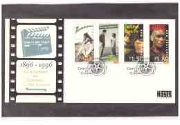 "NZFDC93  -   WANGANUI     7.8.1996     /    FDC    YT. Nr.  1478/1481   ""   CENTENARY OF CINEMA   "" - Cinema"