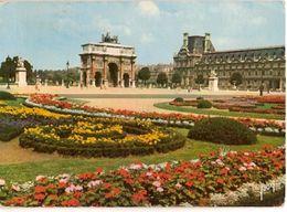 France & Circulated, Jardin De Tuileries Et Le Arc De Triomphe, Paris, Surrey Angleterre 1962(75) - Monuments