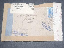 IRAN -Enveloppe De Teheran Pour Paris En 1940 Avec Contrôle Postal , Griffe Relations Postales Interrompues -  L 12655 - Iran