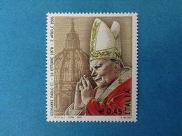 2005 ITALIA FRANCOBOLLO NUOVO STAMP NEW MNH** PAPA GIOVANNI PAOLO II 0,45 - Papes