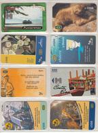 COSTA RICA 8 Different Cards - Costa Rica