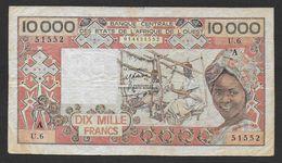 COTE D'IVOIRE  ( Lettre A)  - Billet De 10000 Francs - Côte D'Ivoire