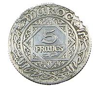 5 Francs - Maroc - 1959 -  Argent -  TB+   - - Maroc