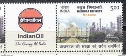 INDIA, 2017, MY STAMP,  MATHURA Refinery, Indian Oil, Taj Mahal,  MNH(**) - India