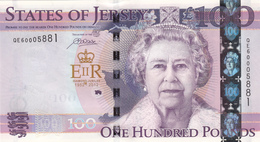 Jersey £100 Banknote (Pick 37) One Hundred Pound Diamond Jubilee, Code QE60 - Superb UNC Condition - Jersey