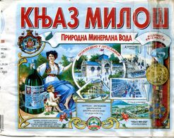 "Eau Gazeuse ""Knjaz Miloš"" Provenant DeYougoslavie - Labels"
