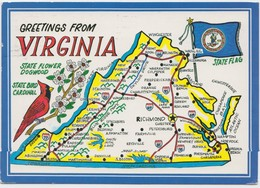 Greetings From VIRGINIA, 1994 Used Postcard [20830] - United States