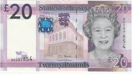 Jersey Banknote (Pick 35) Twenty Pound D Series, Code BD - Superb UNC Condition - Jersey