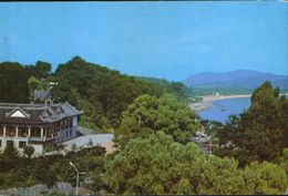 North Korea  - Postcard  Written - The Songdo Pavilion Settles On The Beautiful Djangdeuk-san Hill In Weunsan - 2/scans - Korea, North