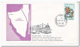 Israël 1968, Opening Day Of Israeli Post Office Qantara - Brieven En Documenten