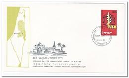 Israël 1967, Opening Day Of Israeli Post Office Bet Sahur - FDC