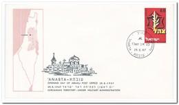 Israël 1967, Opening Day Of Israeli Post Office Anabta - FDC