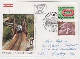AUSTRIA 1984 ARLBERGBAHN TRAIN LOCOMOTIVE RAILWAY BRIDGE CIRCULATED FDC - Trenes