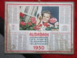 Almanach Des Postes, Télégraphes Et Téléphones / De 1950 - Calendriers