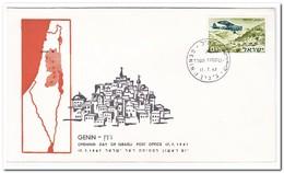Israël 1967, Opening Day Of Israeli Post Office Genin - FDC