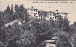 HOTEL SONNENBERG MIT GOLF CLUB HAUS. SONNEBERG LUZERN. M.ZIMMERMAN.-SUISSE-TBE-BLEUP - LU Luzern