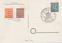 POSTAMT PILLNITZ  - 1946 , MUSEUM , Provinz Sachsen - Sowjetische Zone (SBZ)
