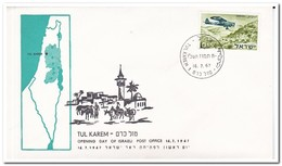 Israël 1967, Opening Day Of Israeli Post Office Tul Karem - FDC