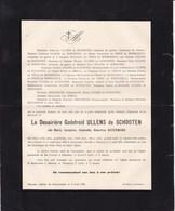 MERXEM ANVERS Marie BEECKMANS Veuve Godefroid ULLENS De SCHOOTEN 1852-1923 - Obituary Notices