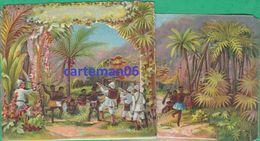 Chromo Théâtraliser- Carte à Système 3 D, Relief, Afrique, Colonisation - Au Labeur TH. Minot Dijon -Format: 17.3 X 9 Cm - Autres