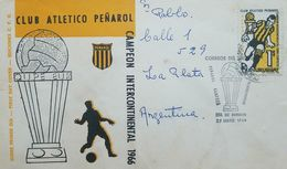 L) 1968 URUGUAY, CLUB ATLETICO PEÑAROL, INTERCONTINENTAL CHAMPION, SPORT, FOOTBALL, FDC - Uruguay