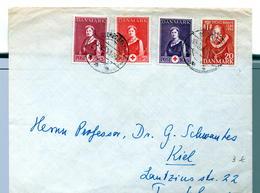 Timbre : Danemark :  Lettre De 1955 . - Danemark