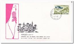 Israel 1967, Opening Day Of Israeli Post Office Yeriho - Brieven En Documenten