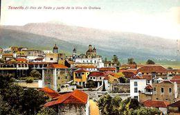 Tenerife - El Pico De Tedie Y Parte De La Villa De Orotava  (animado) - Tenerife