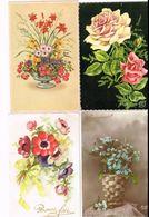 Lot De 8 Cartes Postales. Fleurs. - Fleurs
