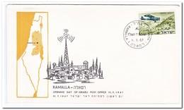 Israel 1967, Opening Day Of Israeli Post Office Ramalla - Brieven En Documenten