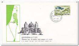 Israel 1967, Opening Day Of Israeli Post Office Hevron - Brieven En Documenten