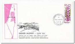 Israel 1970, Opening Day Of Israeli Post Office Gesher Allenby - Israël