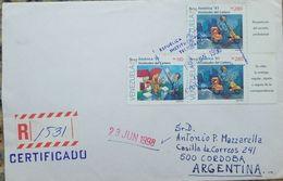 L) 1998 VENEZUELA ,UPAEP, VIESITUDES OF THE CARRIER, PEOPLE, MOTORCYCLE, VESPA, DOG, CIRCULATED COVER FROM VENEZUELA - Venezuela