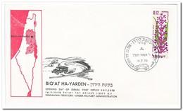 Israel 1970, Opening Day Of Israeli Post Office BiqÁt Ha-Yarden - Israël