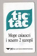UKRAINE - Kyiv - 1997 - Phonecard Telecard Chip Card - Advertising - TIC TAC - K293 - 840 Units - - Ukraine