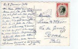 U1476 NICE STAMP AND TIMBRE 1956 On Small Postcard: MONACO, LE ROCHER  - STORIA POSTALE - Monaco