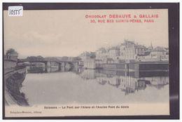 SOISSONS - LE PONT SUR L'AISNE - PUBLICITE CHOCOLAT DEBAUVE & GALLAIS, PARIS - TB - Soissons