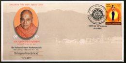 India 2017 Swami Madhavananda Hundu Spiritual Teacher Religion Special Cover # 18272 - Hinduism