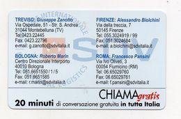 Telecom - Scheda Chiama Gratis - 2003 - SDV - 20 Minuti Di Conversazione Gratuita - NUOVA - (FDC7698) - Italy
