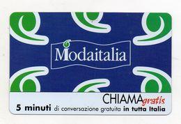 Telecom - Scheda Chiama Gratis - 2004 - MODAITALIA - 5 Minuti Di Conversazione Gratuita - NUOVA - (FDC7699) - Italy