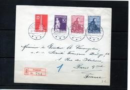 Timbre :  Danemark : Lettre De 1938. - 1913-47 (Christian X)