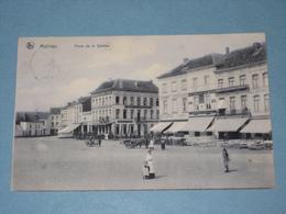 1907 - Malines - Place De La Station - Met Hondenkar Mooie Animatie - Malines