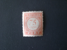 INDIE OLANDESI 1890 TAXE SERVICE 75 CENT ORANGE TE BETALEN MH - Nederlands-Indië