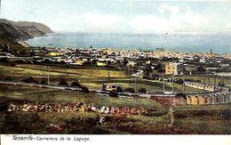 Tenerife -  Carretera De La Laguna (tram Tramway Animado Coloreada) - Tenerife