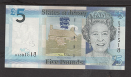 Jersey Replacement  (Pick 33z) Banknote Five Pound 'D Series', Code DZ - Superb UNC Condition - Jersey