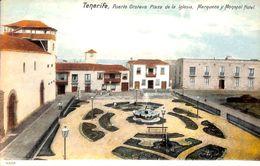 Tenerife -  Puerto Orotava Plaza De La Iglesia Monopol Hotel ( Animado Coloreada) - Tenerife