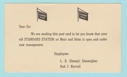 OM.5  USA Postal Stationery  Entier Postal : Standard Service   Brookfield Mo 22.2. 57 ( Automobiles  ) - 1941-60