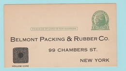 OM.5  USA Postal Stationery  Entier Postal : ** Avec Adresse : Belmont Packing & Rubber Co. - 1941-60
