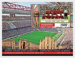 Armenia 2017 Intercontinental Football Cup, Winners, Milan - Miniature Sheet Mint ** - Clubs Mythiques